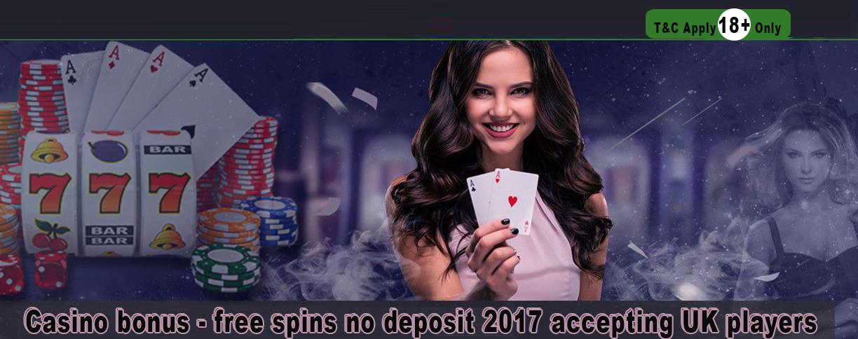 Casino bonus - free spins no deposit 2017 accepting UK players - Delicious Slots