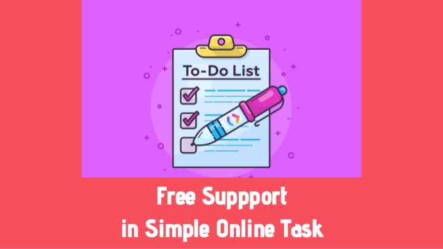 Free suppport in simple online task
