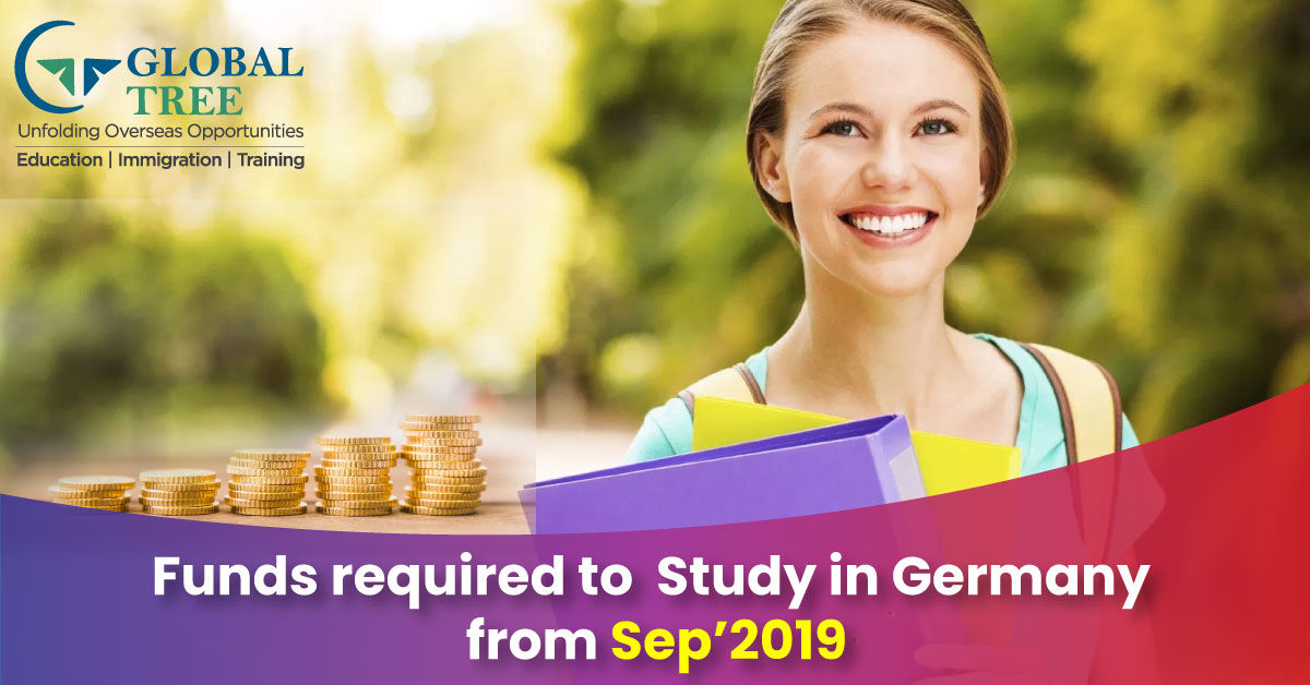 The Amount to be deposited has been increased for Study in Germany