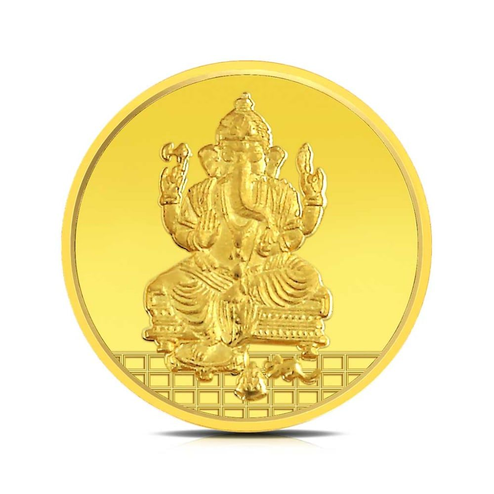 Buy Ganesha Gold Coins Designs Online Starting at Rs.7078 - Rockrush India