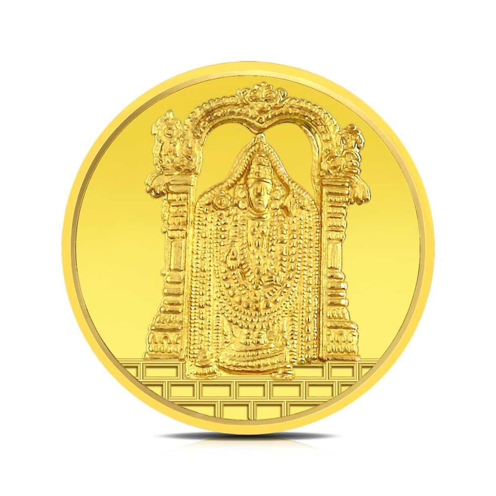 Buy Balaji Gold Coins Designs Online Starting at Rs.7078 - Rockrush India