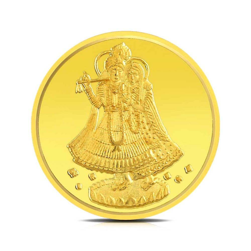 Buy Radha Krishna Gold Coins Designs Online Starting at Rs.7078 - Rockrush India