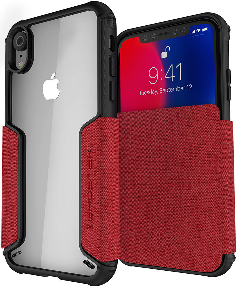 iPhone XR Leather Flip Wallet Case from Ghostek - EXEC 3 Series