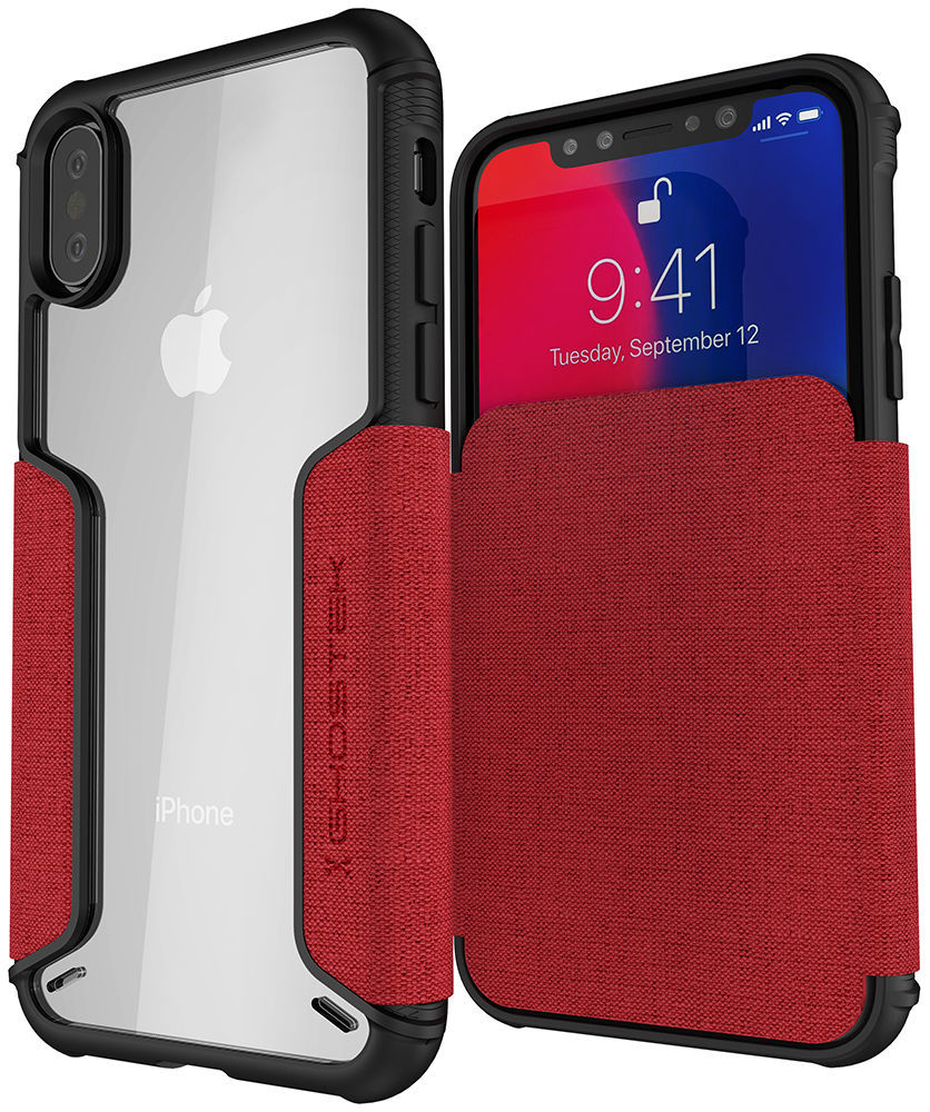 Buy iPhone XS, iPhone X Leather Wallet Case Online at Ghostek