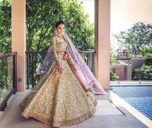 Glittery Bridal Lehenga Design
