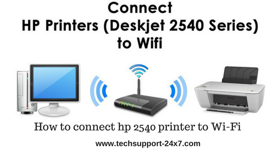 How to connect hp 2540 printer to wifi | Call @ 1 888-225-4458