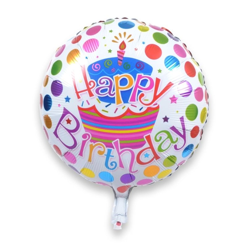 Happy Birthday Cake Foil Balloon - Little Parties
