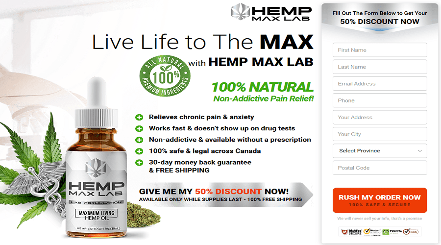 Hemp Max Lab Oil Reviews {Updated 2020} - Reduces Pain!