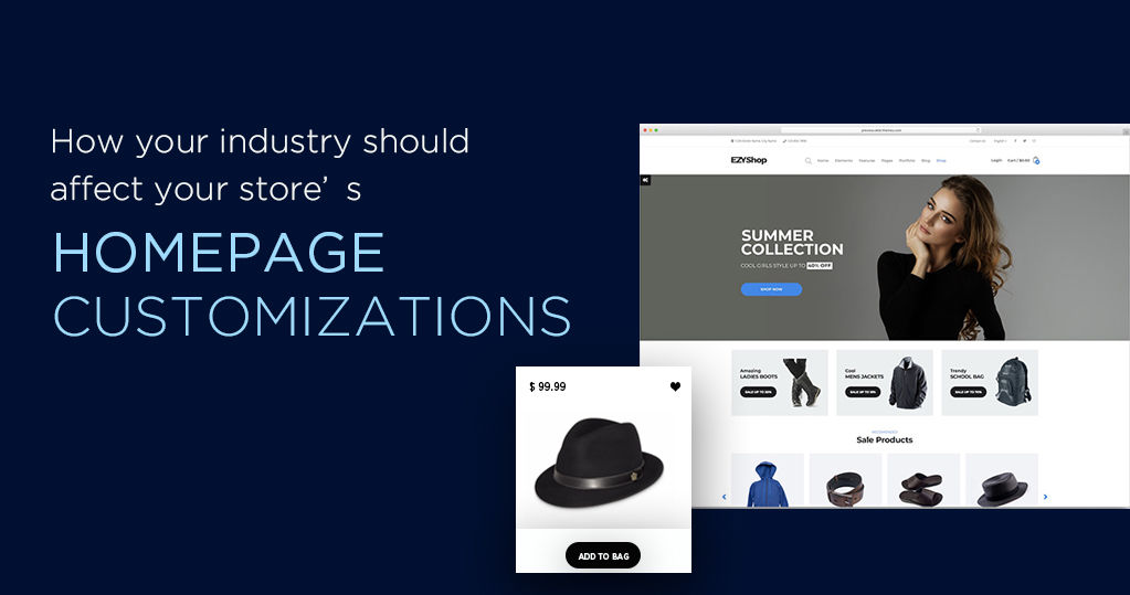 How Industry should Affect Store's Homepage Customization?
