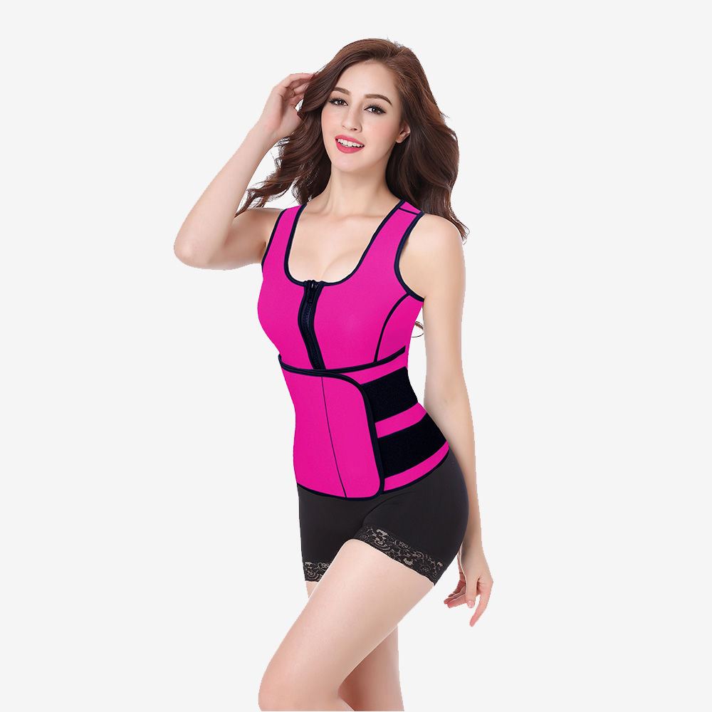 Hot Neoprene Vest Womens Top with Adjustable Waist Belt | Sayfutclothing