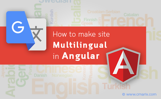 How to make MultiLingual web applications in Angular