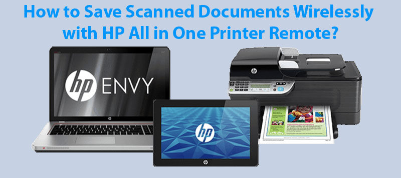 how to save scanned documents wirelessly