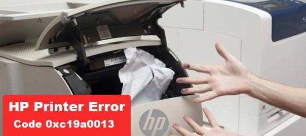 HP Printer Error Code 0xc19a0013