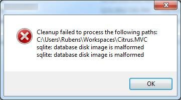 Resovle SQLite database disk image is malformed Error