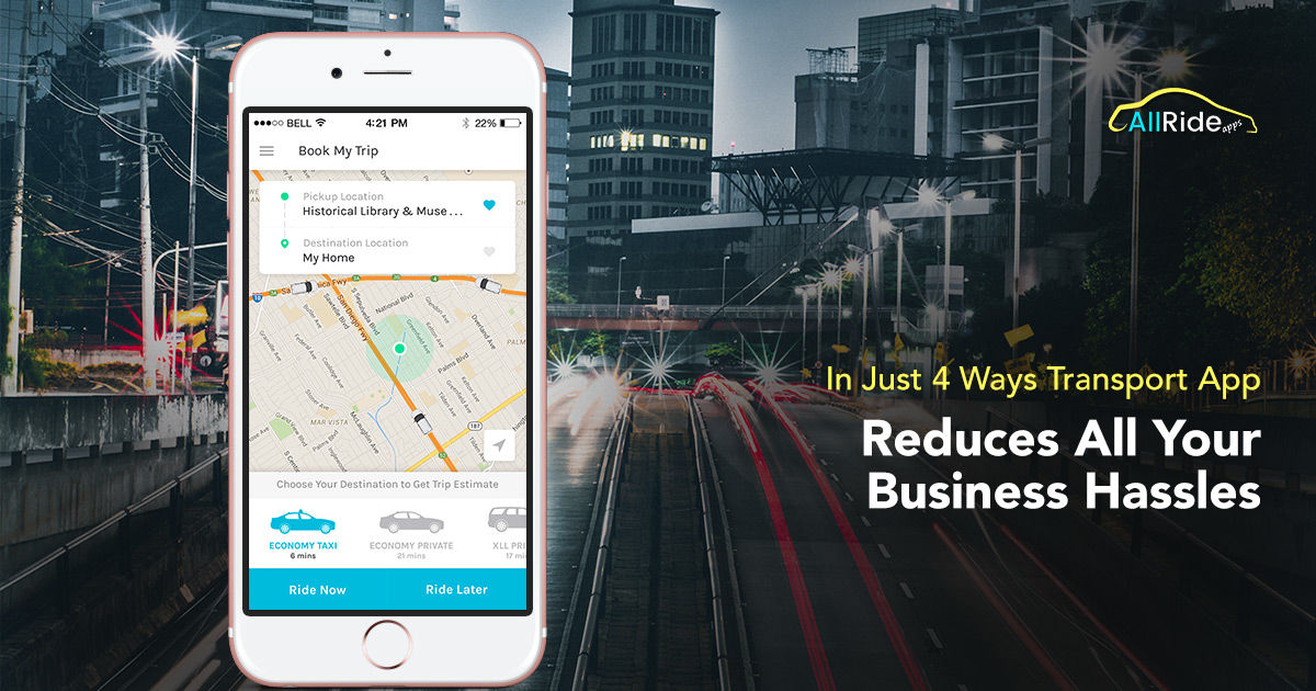 Reduce Your Business Hassles With On Demand Transport App