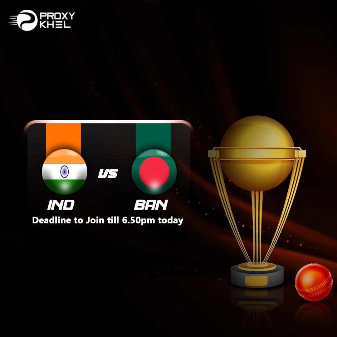 IND vs BAN ICC T20 International| Proxy Khel Predictions.