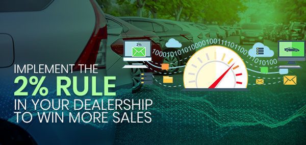 Implement the 2% Rule in Your Dealership to Win More Sales   Izmo Auto