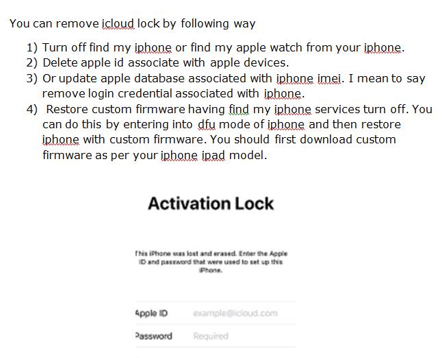 icloud lock removal