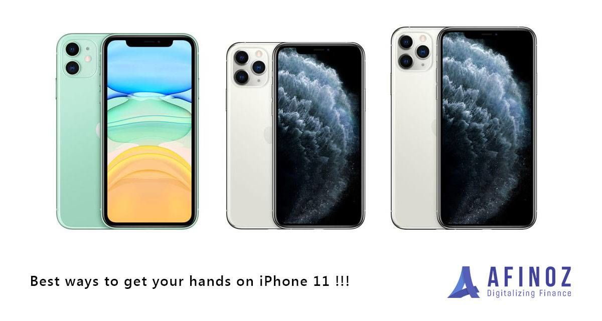 Get iPhone 11 on EMI for Rupees 3264*