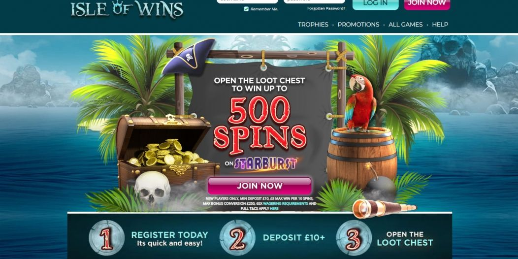 New Slot Site Isle of Wins | Win Up To 500 Free Spins on Starburst!