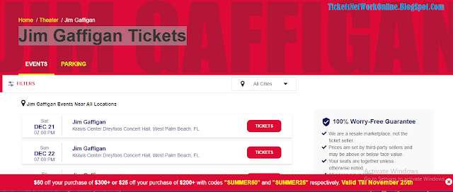 Tickets Network Online: Discover Jim Gaffigan Tickets Near You Jim Gaffigan Ticket Prices Floor Seats Stand-Up Tickets