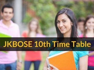 JKBOSE 10th Time Table 2019 (Available)- J&K 10th Class Exam Dates