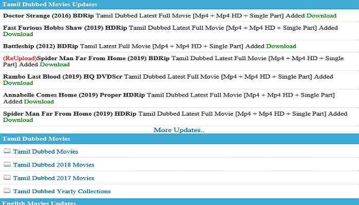 Kuttymovies.com 2019 - Download Tamil, Telugu, Malayalam, Hollywood Movies