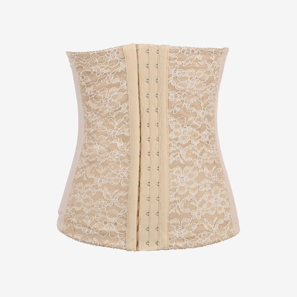 Lace Steel Boned Underbust Elastic Corset Shapewear   Sayfutclothing