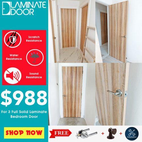 Laminate Bedroom Door Install For HDB / BTO In Door Factory Price