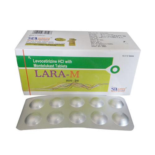 Lara-M Tablet, Levocetirizine 5 Mg + Montelukast 10 Mg Tablets - Schwitz Biotech