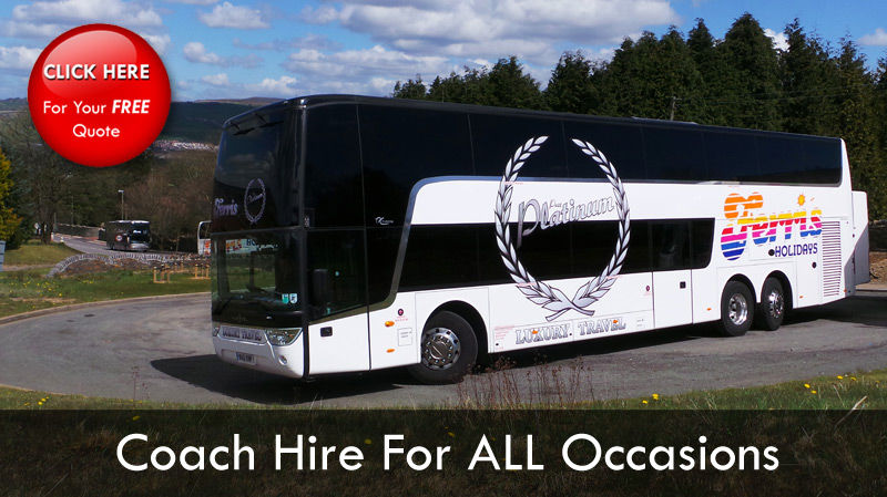 Coach Hire Cardiff - Departing throughout the year - Book Today