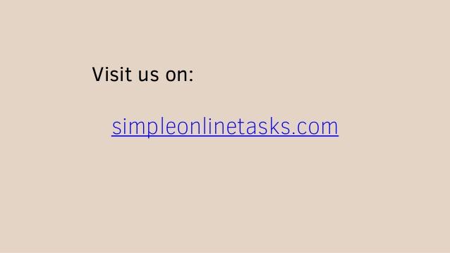 Latest micro jobs simple   online task