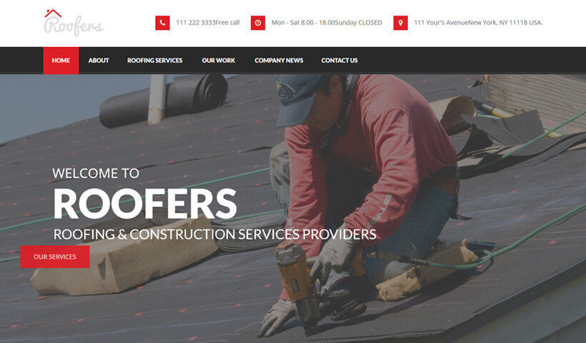 Roof Care WordPress Theme For Roofing Companies