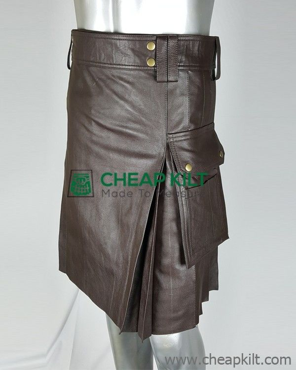 Leather Utility Kilt for Active Men