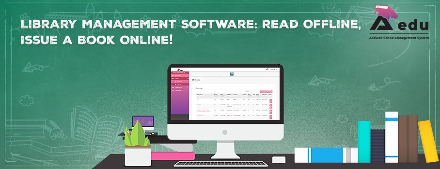 Library Management Software: Read Offline, Issue a Book Online