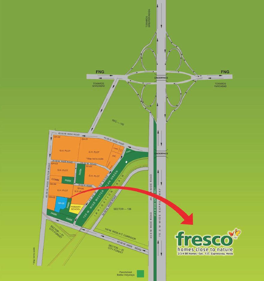 Exotica Fresco Location Map