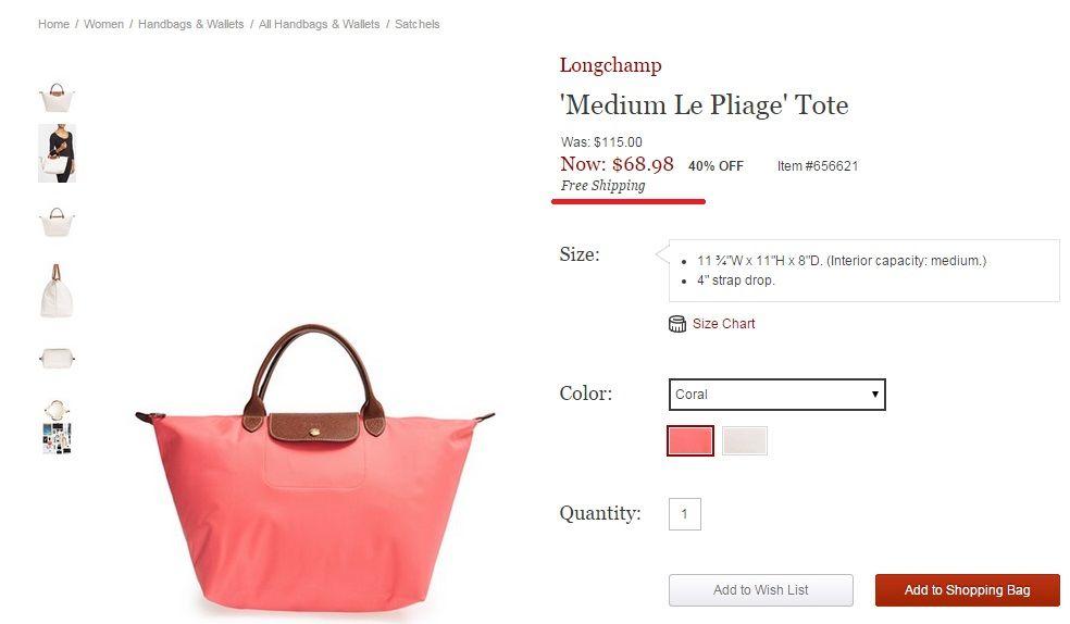 40 ٪ على الحقائب Longchamp!