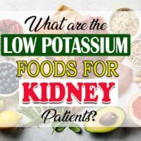 What are the low potassium foods for kidney patients?