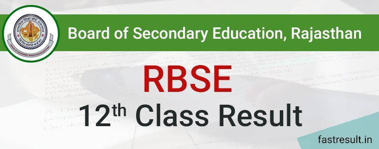 Rajasthan Board 12th Result 2019 | RBSE 12th Result 2019 @Fastresult