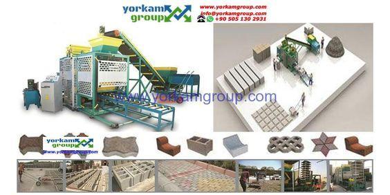 Différents types de machine pour fabriquer les briques de ciment