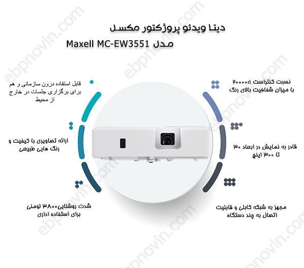 دیتا ویدئو پروژکتور مکسل Maxell MC-EW3551