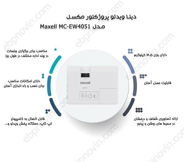 دیتا ویدئو پروژکتور مکسل Maxell MC-EW4051