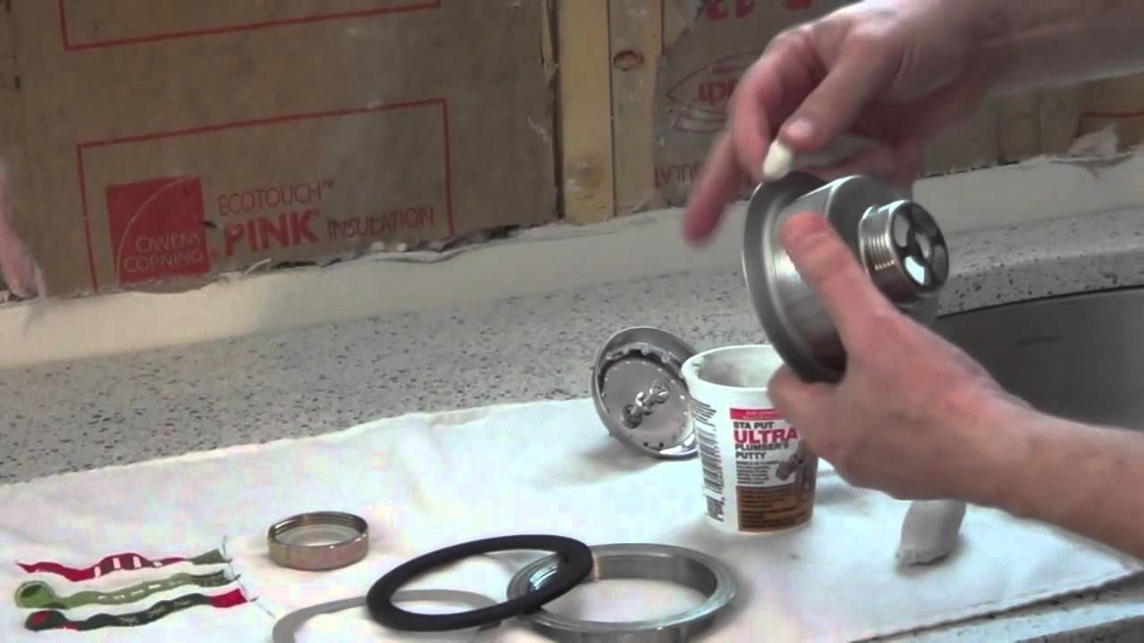 How to replace kitchen sink strainer