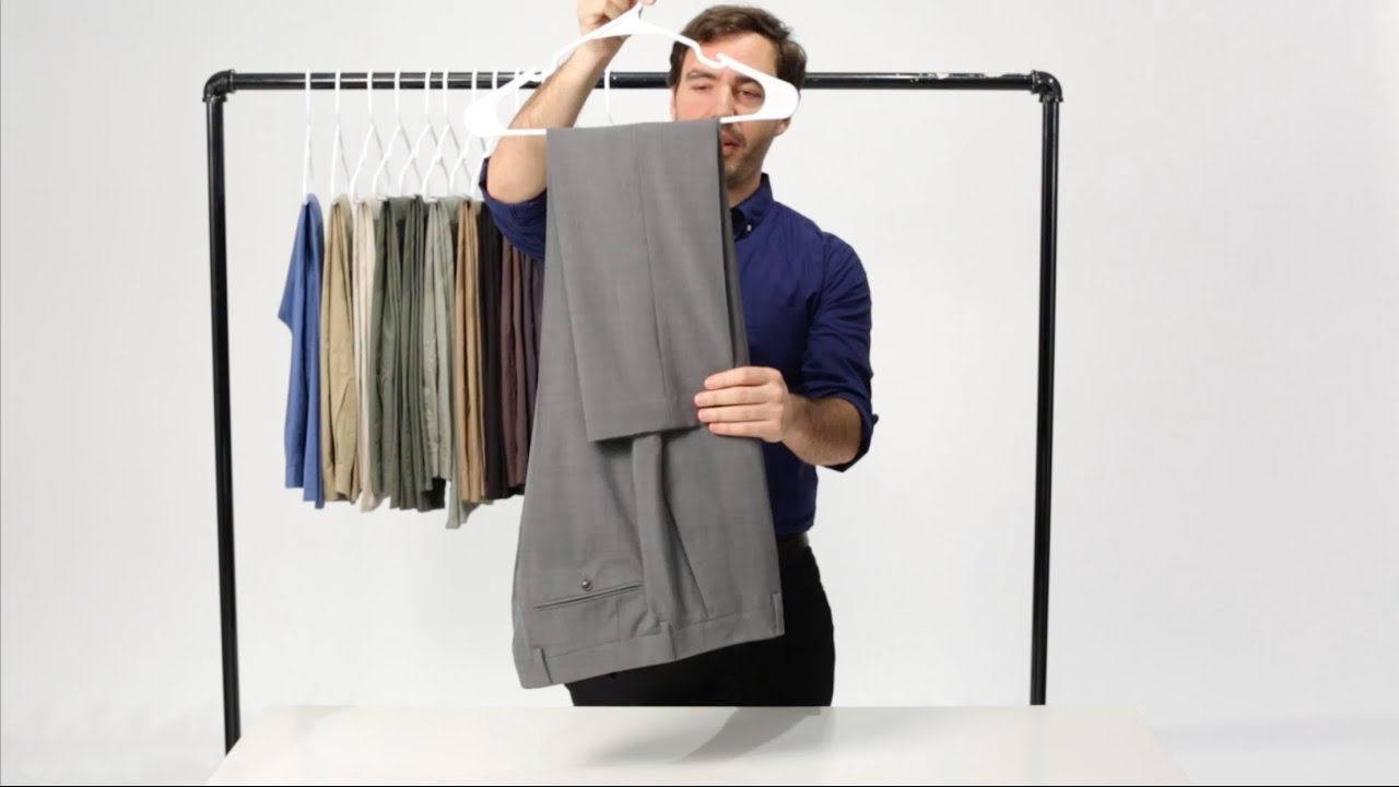 How to Hang Clothes on a Hanger