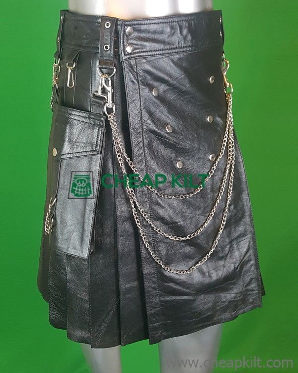 Stylish Leather Kilt for Men