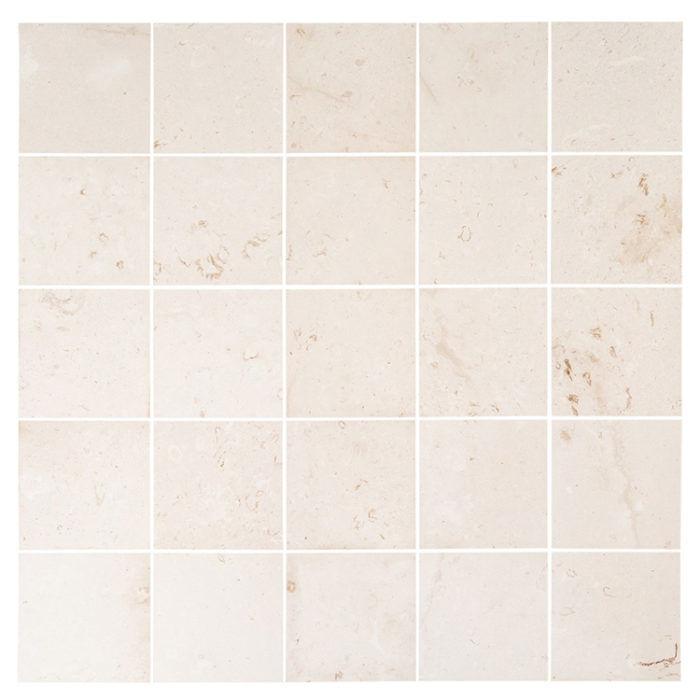Myra white limestone tile - Villohome