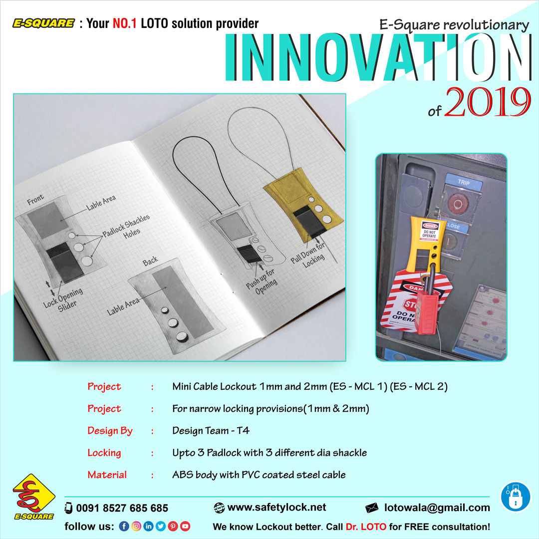 Lockout Tagout Device Innovation - Mini Cable Lockout