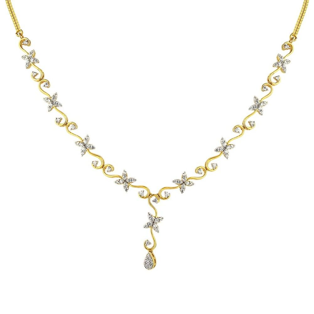 Buy Diamond Necklaces Designs Online Starting at Rs.8287 - Rockrush India