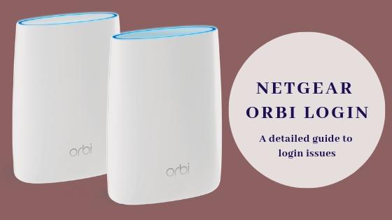 Netgear Orbi login