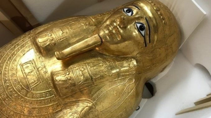 New York museum returns stolen ancient Egyptian coffin